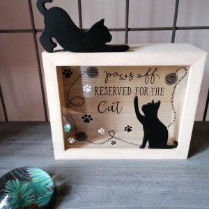 Decoratieve spaarpot met katten.