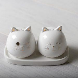 Peper en zoutstel katten