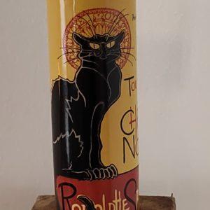 Waxinelichthouder le chat noir.