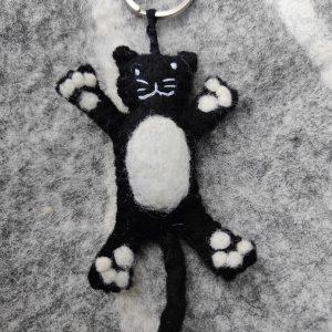 Sleutelhanger zwarte kat