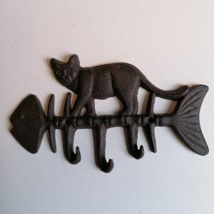 Wandrekje kat met vissengraat.