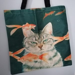 Tas kat met goudvissen.