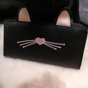 Portemonnee zwarte kat