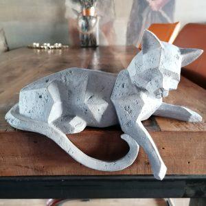 Kattenbeeld origami.