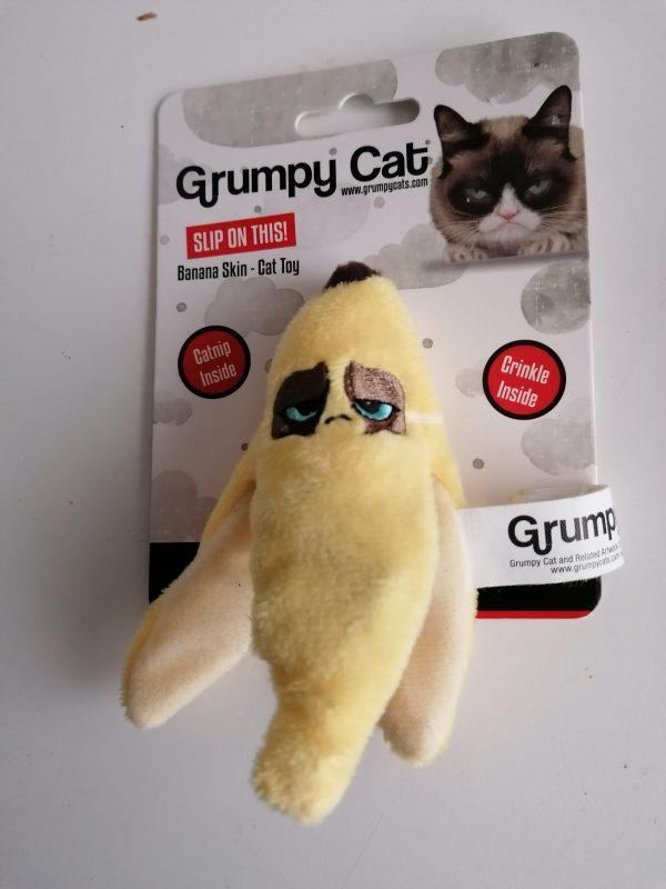Grumpycat,Kattenspeeltje,Kat,Poes,Katdootje,Ritsel,Banaan,Geel,Speeltje