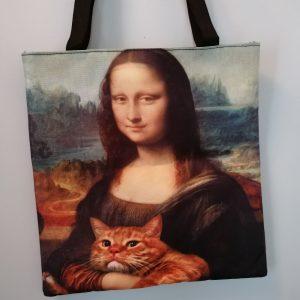 Tas Mona Lisa met poes
