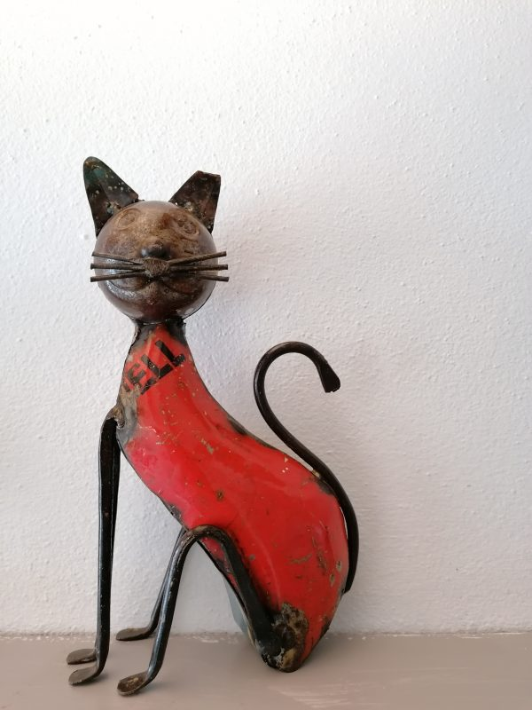 Kattenbeeld metaal