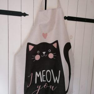 Schort kat I meow you