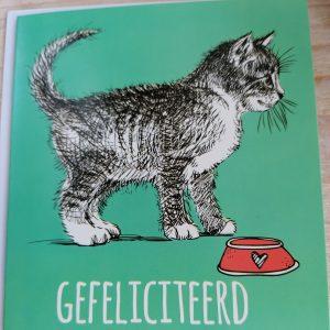 Kaart kat gefeliciteerd