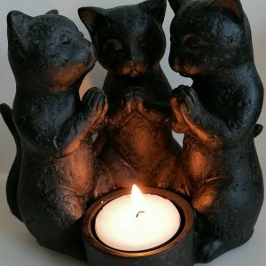 Waxinelichthouder katten