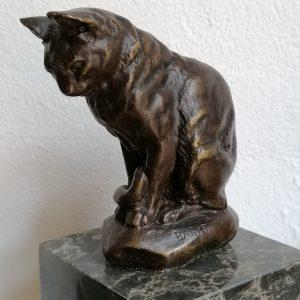 Kat in brons