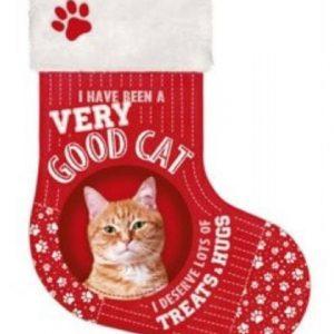 Rode kat kerstsok