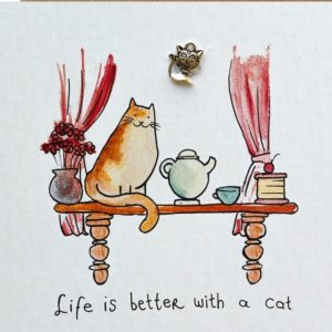 Kaart life is better with a cat