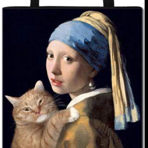 Tas meisje van Vermeer met kat.