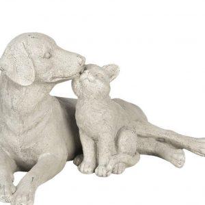 Beeld kat en hond