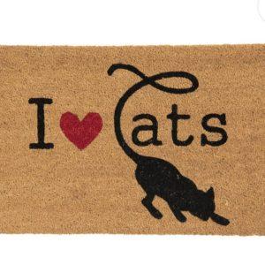 Deurmat I love cats