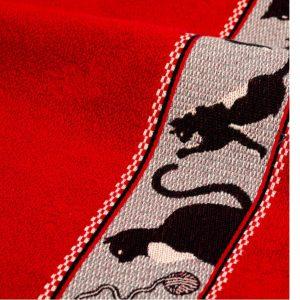 Handdoek katten rood