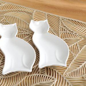 Set van 2 kattenschaaltjes