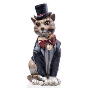 Kattenbeeld kat met pijp
