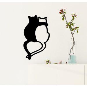Wanddecoratie verliefde katten
