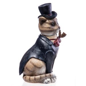 Beeld kat met hoed