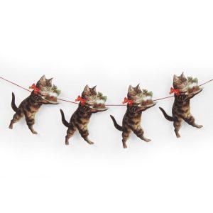 Kerstslinger katten